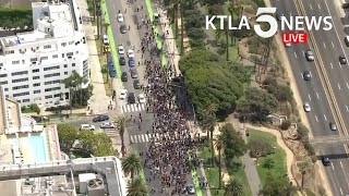 Protests, unrest continues in Los Angeles over George Floyd killing | KTLA 5 News