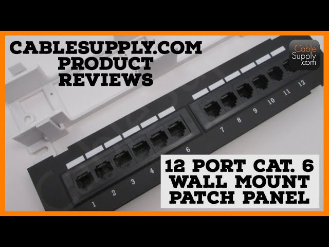 Wall Mount 12 port patch panel
