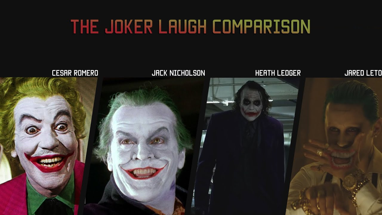 The Joker Laugh Comparison – Cesar R, Jack Nicholson, Heath Ledger, Jared Leto