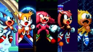 Sonic Mania Plus : All Super Forms Gameplay