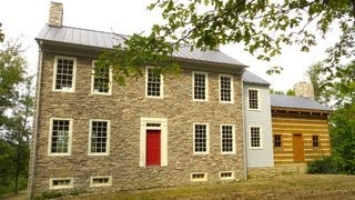 Historic style Stone home and land w/ log cabin for sale 205 acres Danville Kentucky KY