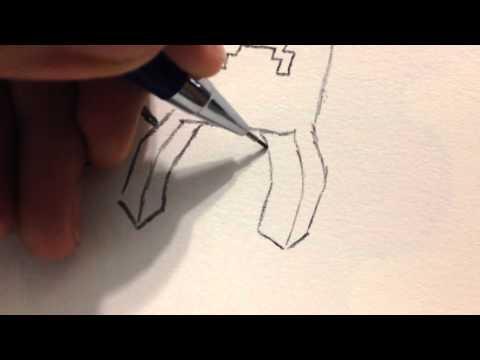 desenhando personagens do minecraft como desenhar o creeper