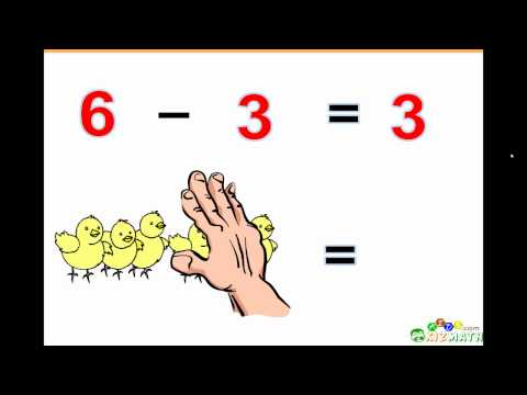 Basic Subtraction Math Lesson - Learn to Subtract