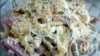 Салат с консервированными кальмарами и кукурузой