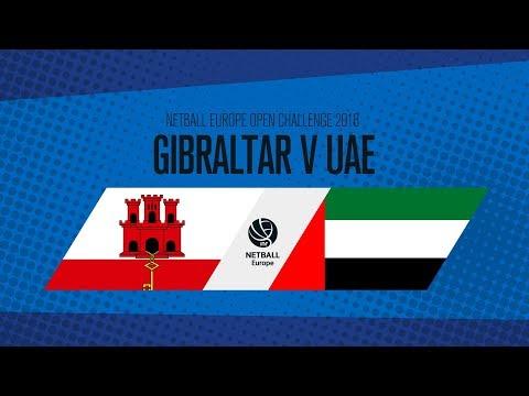 Gibraltar v UAE I Netball Europe Open Challenge 2018