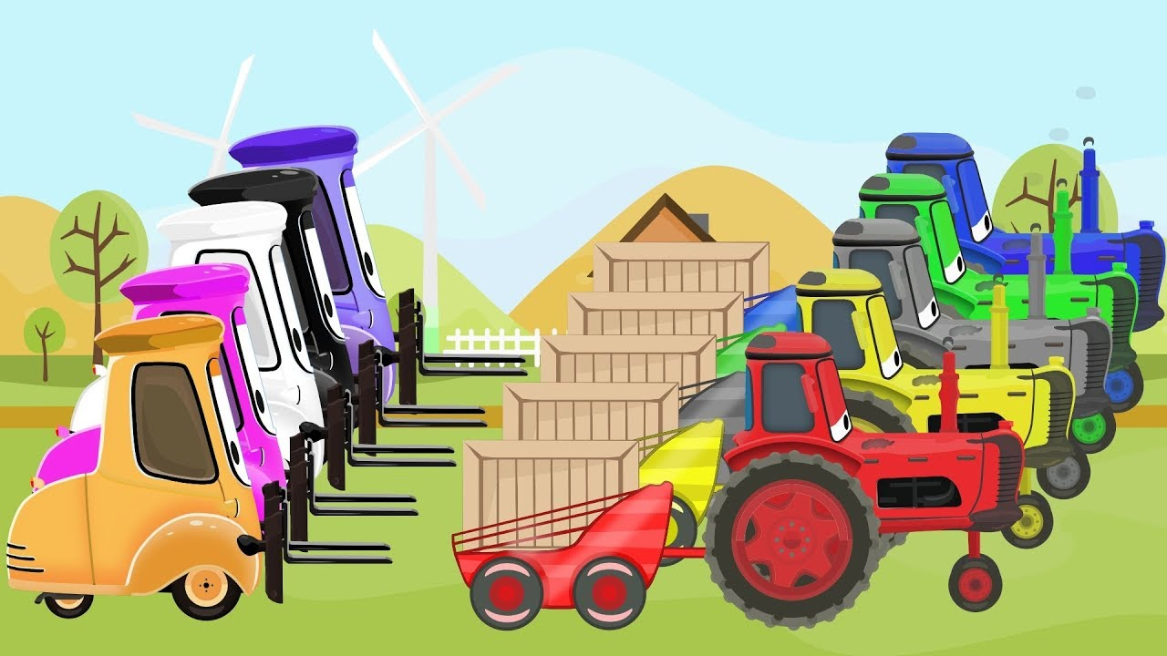 Download McQueen Tractor Learn Colors & Cartoon Animation for Kids and Babies   Kolory TRAKTORY dla DZIECI