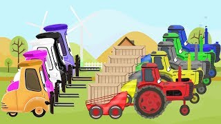 McQueen Tractor Learn Colors & Cartoon Animation for Kids and Babies | Kolory TRAKTORY dla DZIECI