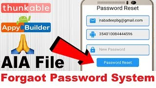 How to create forget password in thunkable