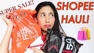 SHOPEE HAUL! 11.11 SUPER SALE BAGSAK PRESYO!