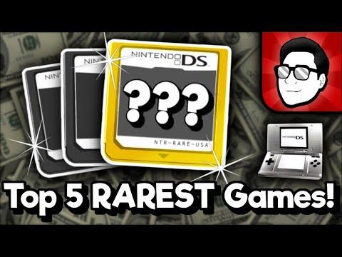 Top 5 RAREST Nintendo DS Games!   Nintendrew