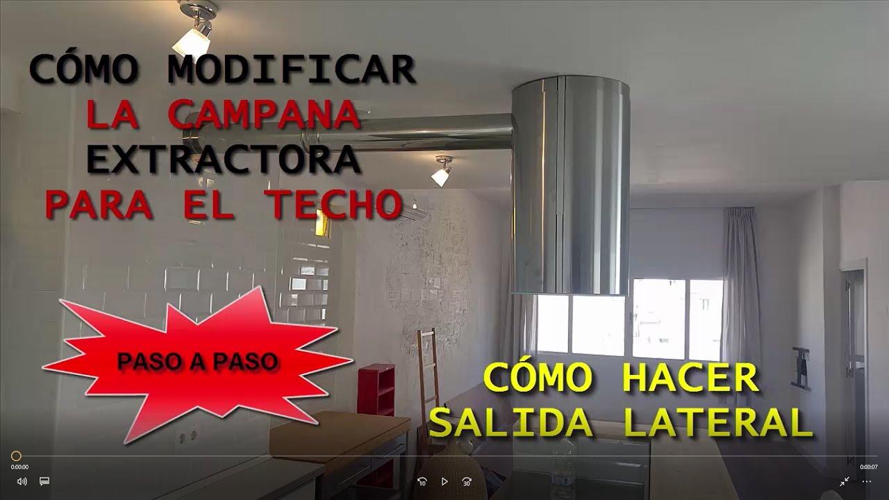 C mo instalar campana extractora al techo youtube for Extractor de cocina de pared
