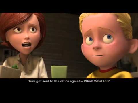 Learn/Practice English with MOVIES (Lesson #1) Title: The Incredibles from YouTube · Duration:  3 minutes 8 seconds