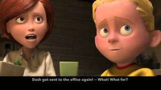 Learn/Practice English with MOVIES (Lesson #1) Title: The Incredibles