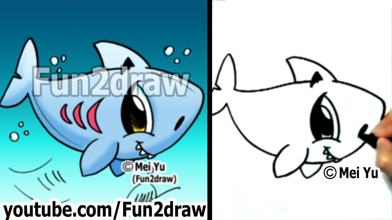 How to Draw Easy - How to Draw a Shark - Draw Animals - Fun2draw ...