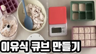 ENG[육아꿀팁]이유식 큐브 만들기(브로콜리,단호박,닭…