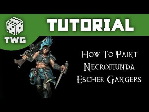 Games Workshop Tutorial: How To Paint Necromunda Escher Gangers (Blue Scheme)