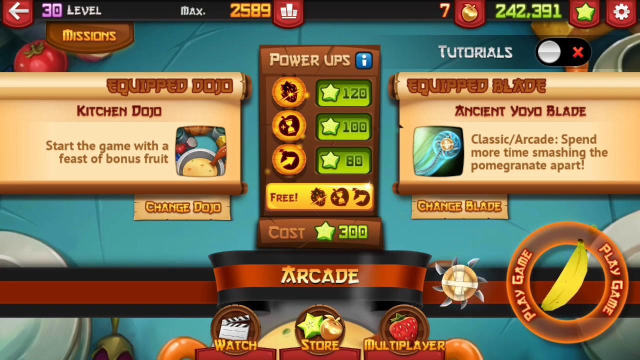 Fruit Ninja: Ancient Yoyo Blade + Kitchen Dojo