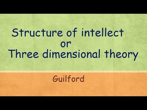 Three dimensional theory or Structure of intellect (SI)