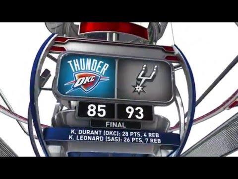 Oklahoma City Thunder vs San Antonio Spurs - March 16, 2016