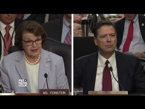 Comey tells Sen. Feinstein he was 'stunned' by Trump's comments about Flynn probe