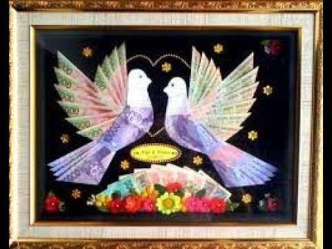 Desain Uang Hantaran Pernikahan Berbentuk Burung