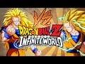 Goku vs Goku Awesome Mirror Match Dragon Ball Z Infinite World Online
