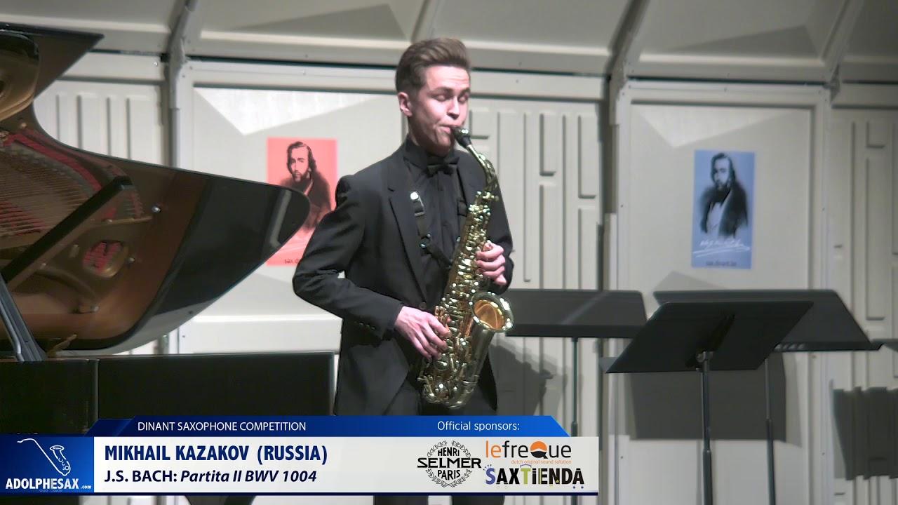 Mikhail Kazakov (Russia) - Partita II by J.S.Bach (Dinant 2019)