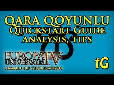 EU4 Cradle of Civilization QARA QOYUNLU Quickstart Guide, Situation Analysis, How To Start