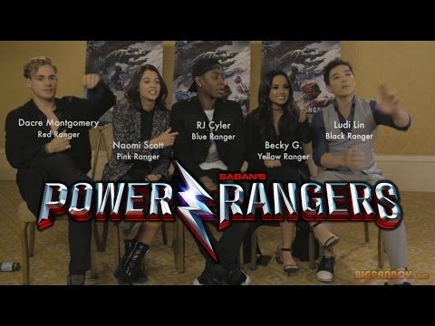 POWER RANGERS interview with cast - Dacre Montgomery, Naomi Scott, RJ Cyler, Becky G & Ludi Lin