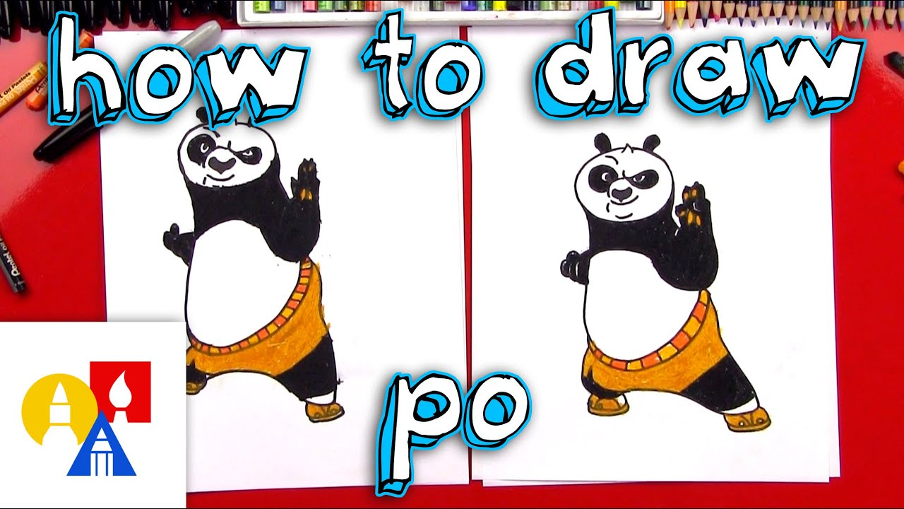 Art For Kids How To Draw Po From Kung Fu Panda Youtube
