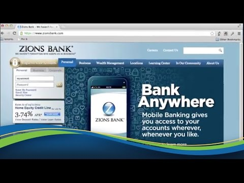 New Online Banking Experience From Zions Bank!