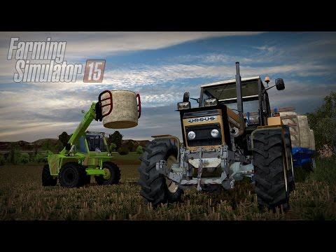 Gospodarstwo Rolne #3 ☆ Farming Simulator 15 Multiplayer - Slovakia Map ☆ Zwożenie słomy ㋡