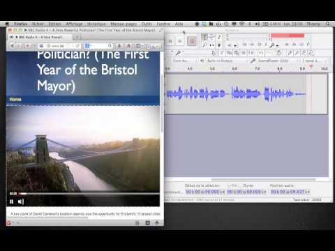 Enregistrement radio web avec Audacity et ralenti