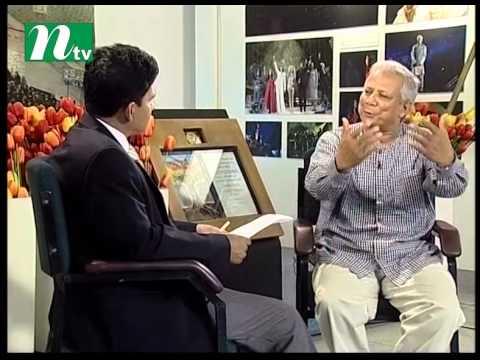 Dr. Muhammad Yunus with  Zahirul Alam at Ntv