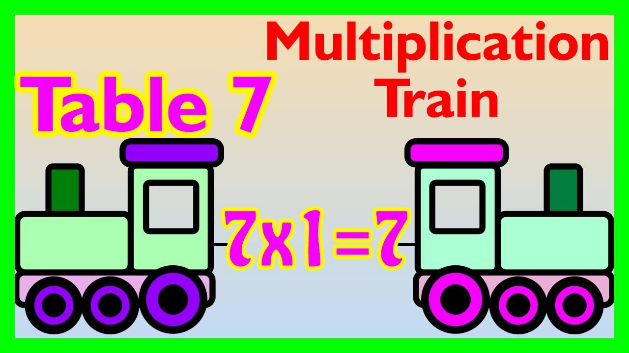 شرح درس The multiplication table up to 7 - Table 7 - Math