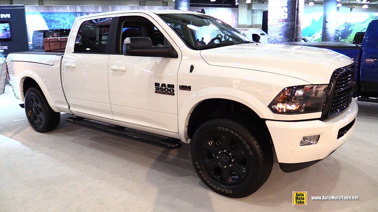 2017 Ram 3500 Night Edition Exterior And Interior Walkaround