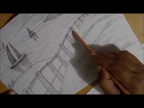 Drawing Lessons For Beginners Basic Landscape Sketch Timelapse