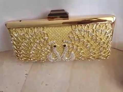 Clutch Pesta Bling Permata Motif Merak Tas Party Diamond Farnell Glitter  Kristal Peacock - YouTube