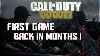 First Game Back to WW2 In Months 50+ Kill Gameplay (Call of duty WW2)