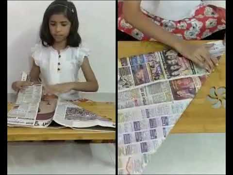 How to make Paper Dustbin Bags