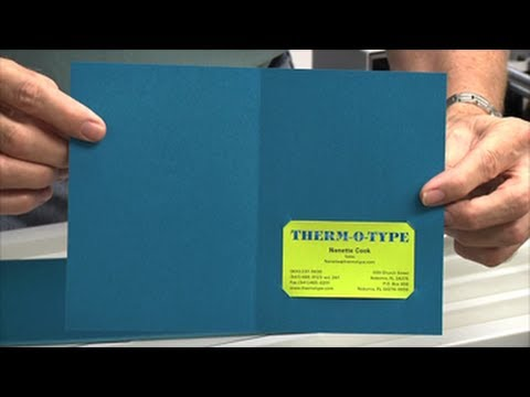 Zip-TS2L - Die Cut to Hold Business Cards - THERM-O-TYPE Corp - YouTube