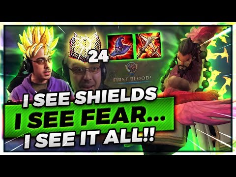 I SEE SHIELDS I SEE FEAR I SEE IT ALLLLL!! | AP DYR TOP VS YASUO