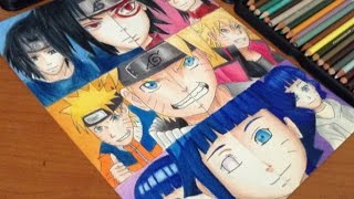 Naruto VS. Boruto Generation Art Comparison- Sasuke, Sarada, Naruto, Boruto, Hinata and Himawari