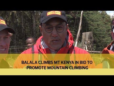 Balala climbs Mt Kenya in bid to promote mountain climbing