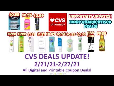 CVS Deals Update 2/21/21-2/27/21! More Deals! All Digital and Printable Coupon Deals!