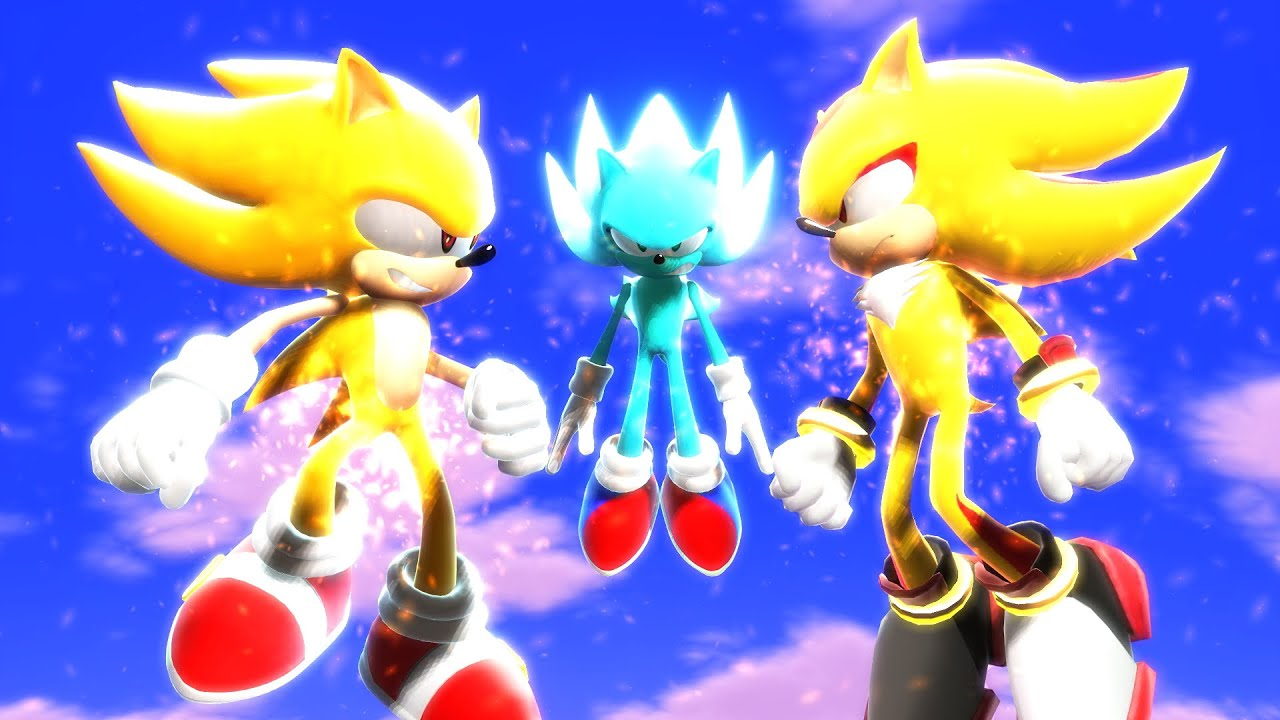 SUPER SONIC AND SUPER SHADOW VS NAZO! Sonic Nazo Unleashed 3D! [Animation]