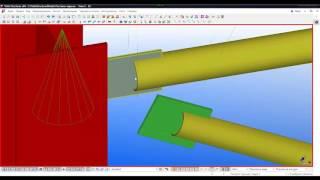 Tekla Structures  Урок 6  Создание узла вертикальной связи и распорки  Узел 3