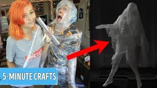 Trying 15 CRAZY FUNNY HALLOWEEN PRANKS by 5 Minute Crafts