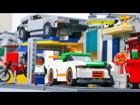 CUSTOM LEGO Auto Body Shop MOC⎜Full Tour
