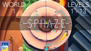 SPHAZE: World 1 Levels 1 - 13 Walkthrough & iOS / Android Gameplay (by Mateusz Janczewski)